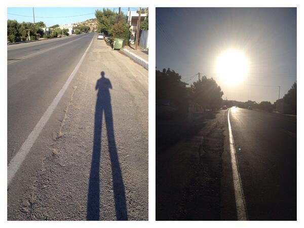 vroeg op, Kreta 2014