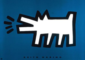 haring-keith-dog-barking